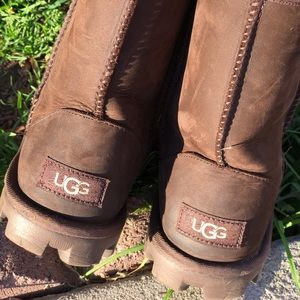 UGG🍂🍁Brown Waterproof Leather Sz 5 women's